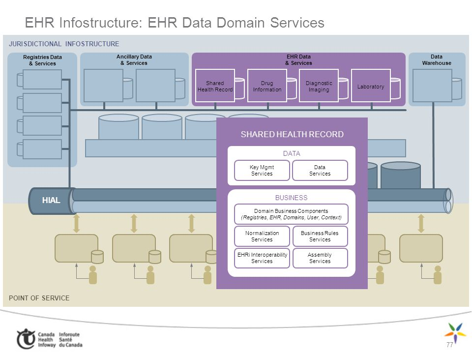 EHR Infostructure: EHR Data Domain Services