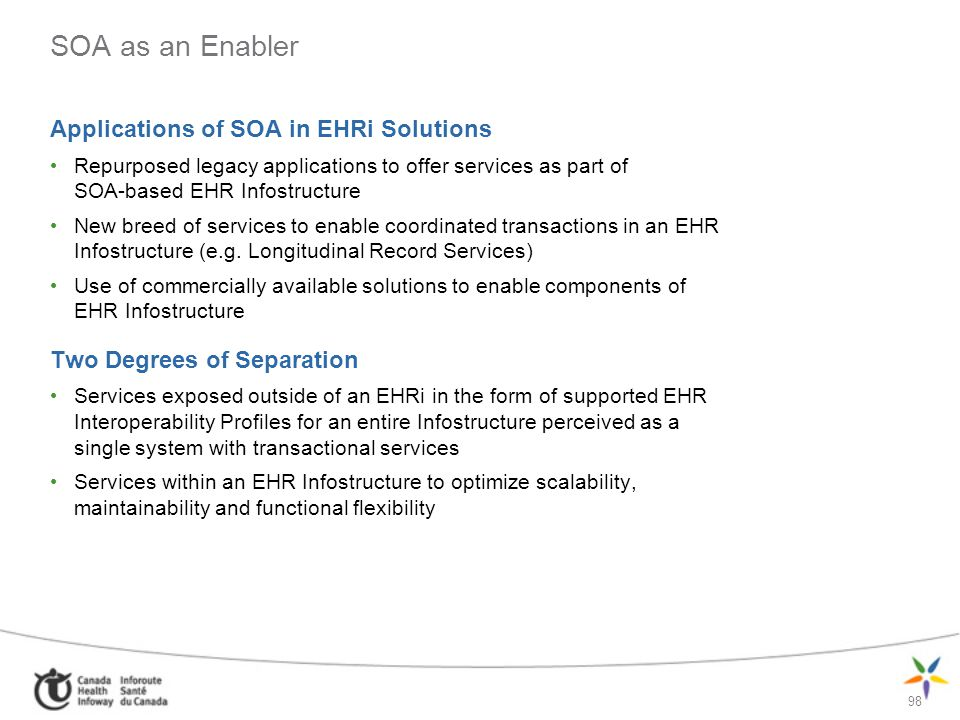 SOA as an Enabler Applications of SOA in EHRi Solutions