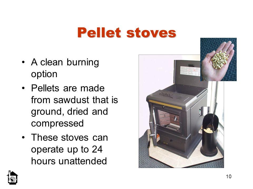 Pellet stoves A clean burning option