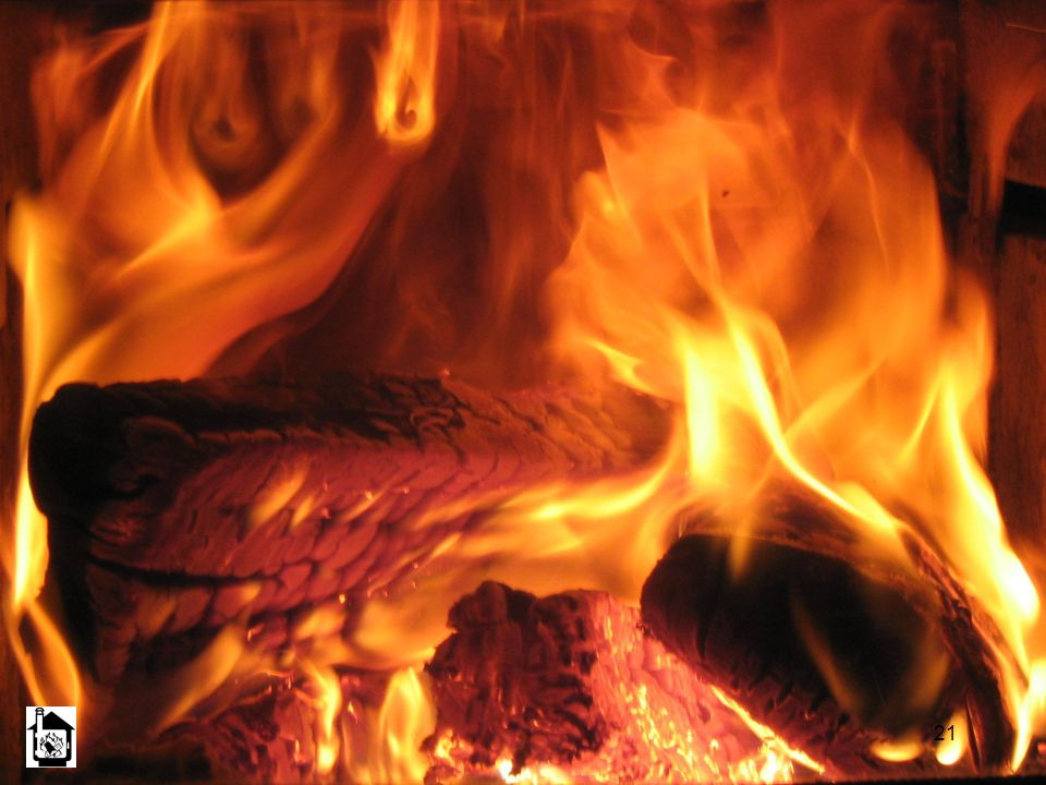 This is what the fire in an advanced combustion wood stove looks like.