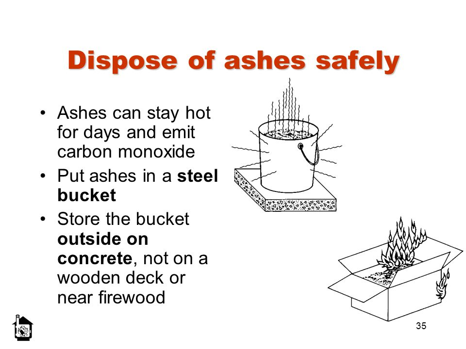 Dispose of ashes safely