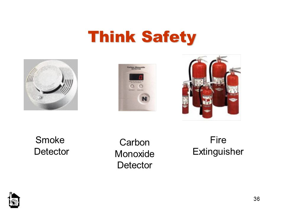 Think Safety Smoke Detector Fire Extinguisher Carbon Monoxide Detector