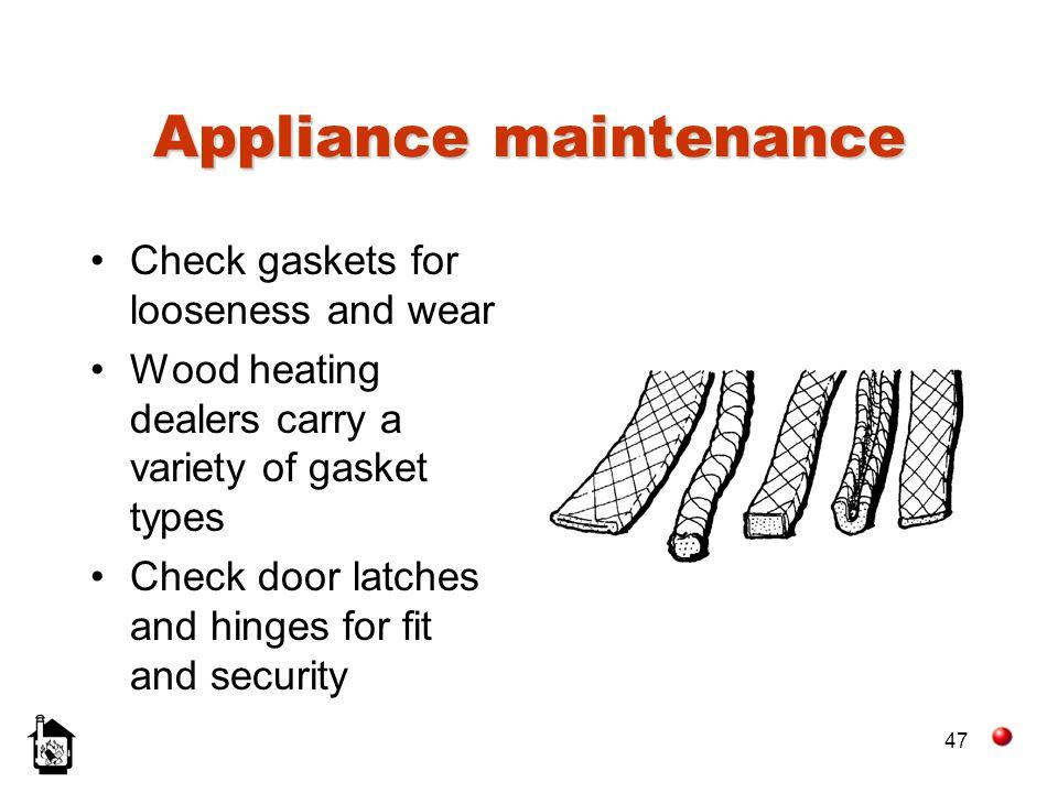 Appliance maintenance