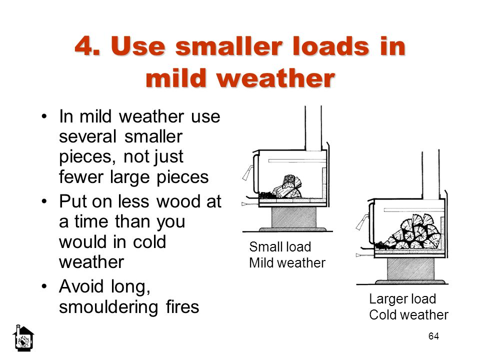 4. Use smaller loads in mild weather