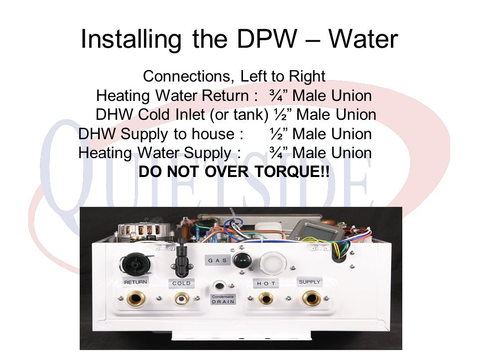 Installing the DPW – Water
