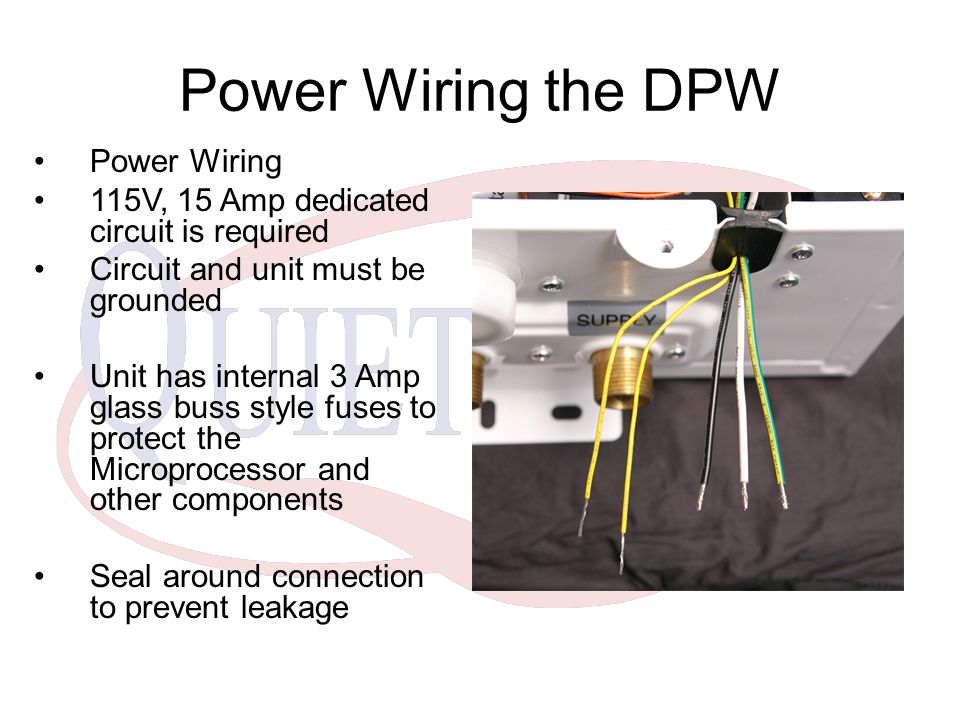 Power Wiring the DPW Power Wiring