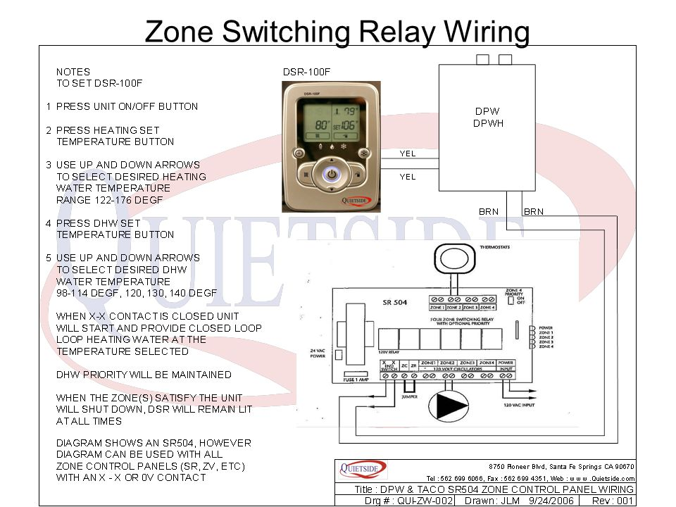 Zone Switching Relay Wiring