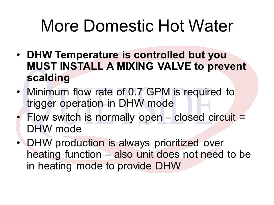 More Domestic Hot Water