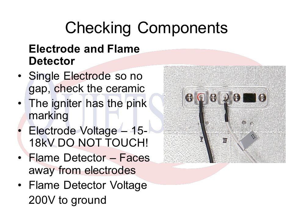 Checking Components Electrode and Flame Detector
