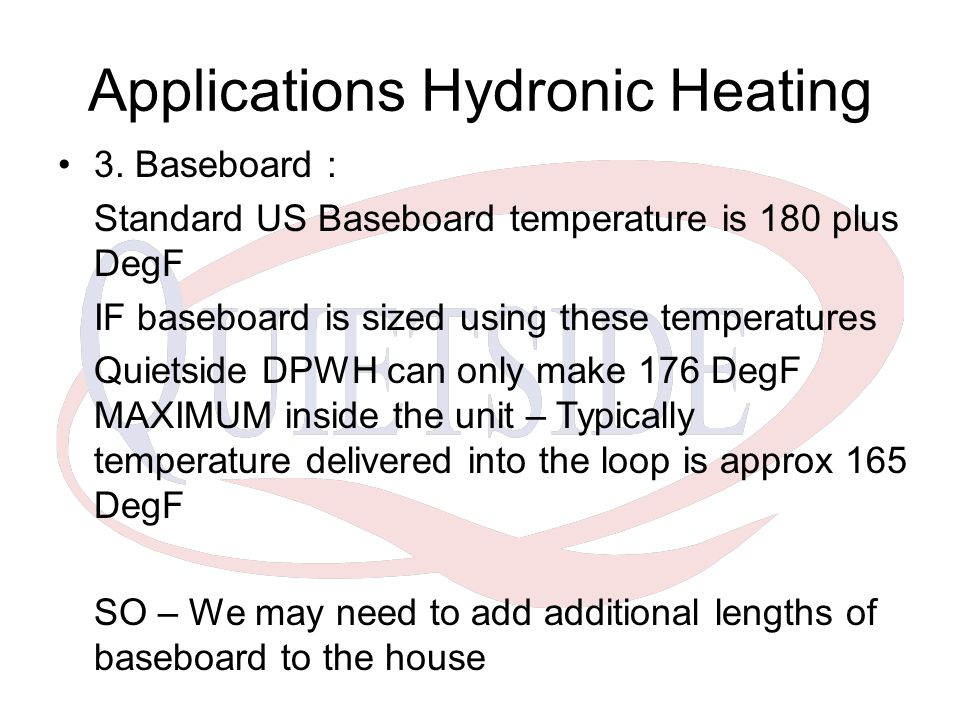 Applications Hydronic Heating