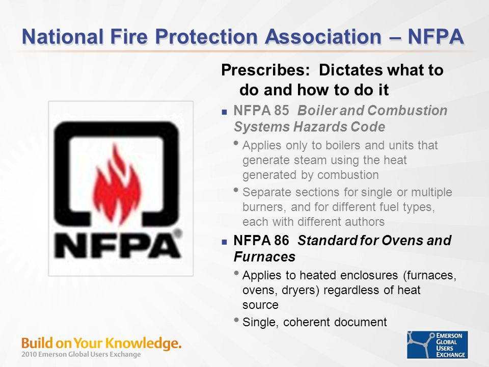 National Fire Protection Association – NFPA