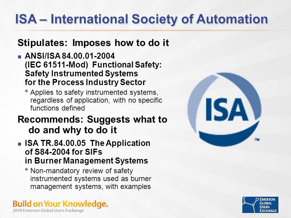 ISA – International Society of Automation