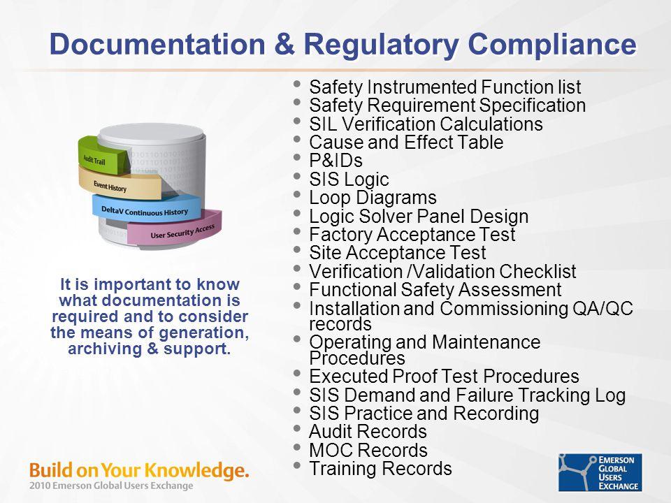 Documentation & Regulatory Compliance
