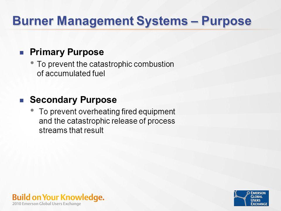Burner Management Systems – Purpose