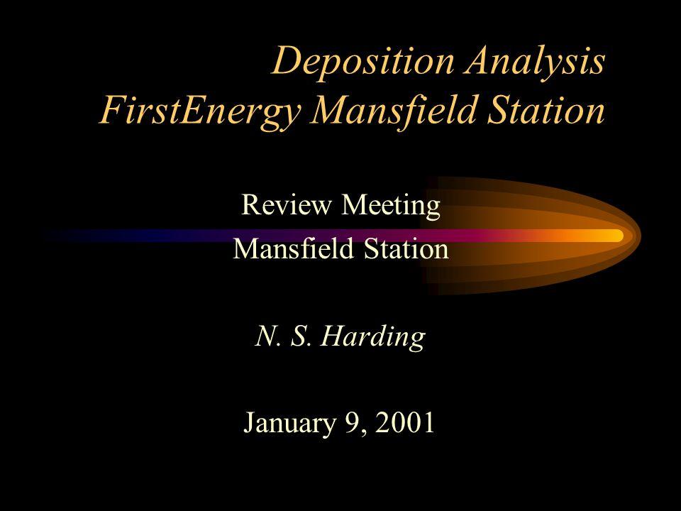 Deposition Analysis FirstEnergy Mansfield Station