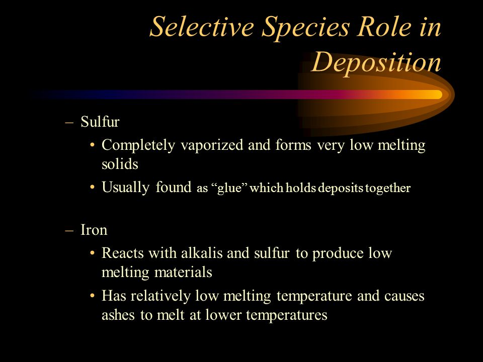 Selective Species Role in Deposition
