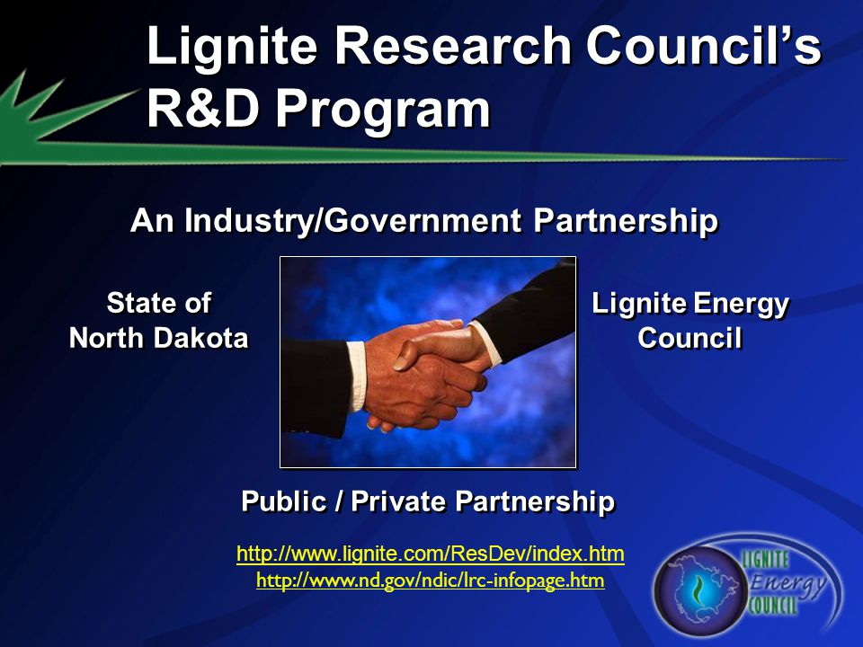 Lignite Research Council's R&D Program