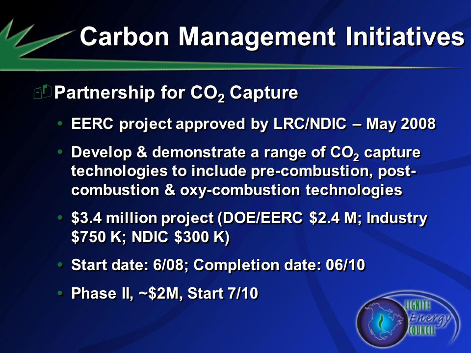 Carbon Management Initiatives