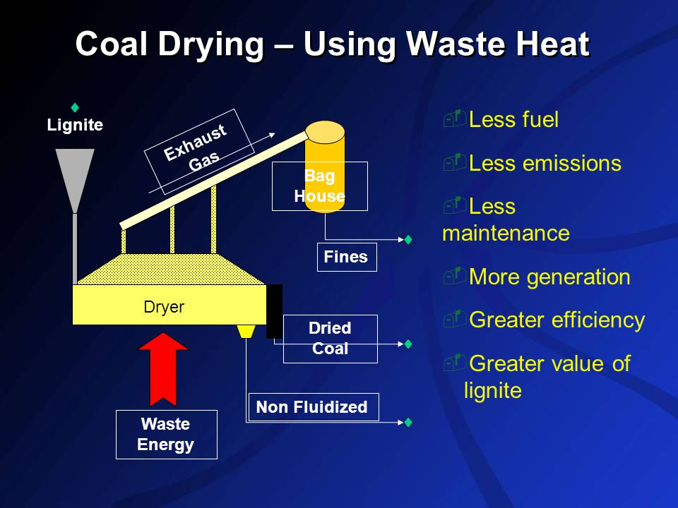 Coal Drying – Using Waste Heat