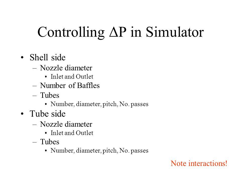 Controlling ΔP in Simulator