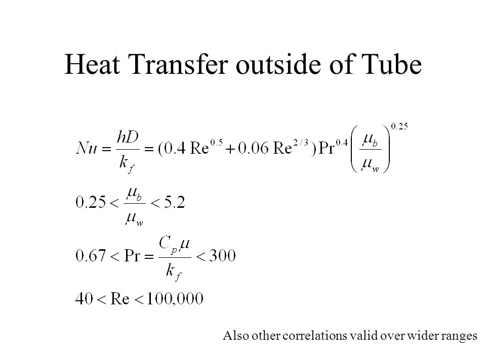 Heat Transfer outside of Tube