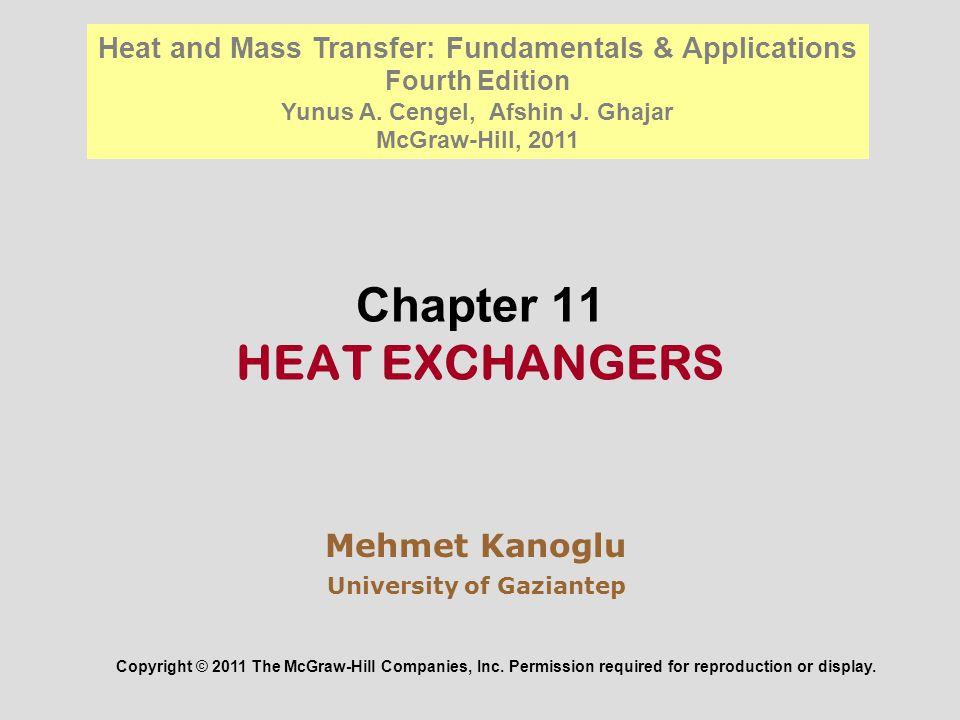 Chapter 11 HEAT EXCHANGERS