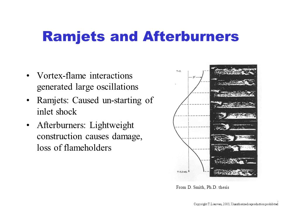 Ramjets and Afterburners