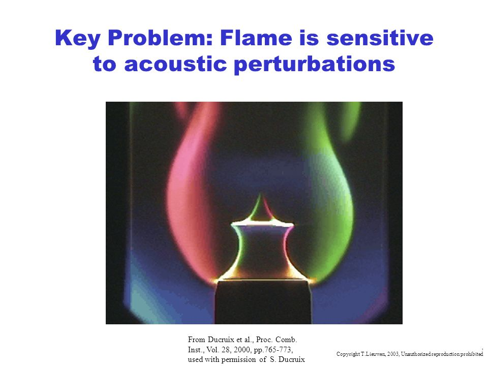 Key Problem: Flame is sensitive to acoustic perturbations