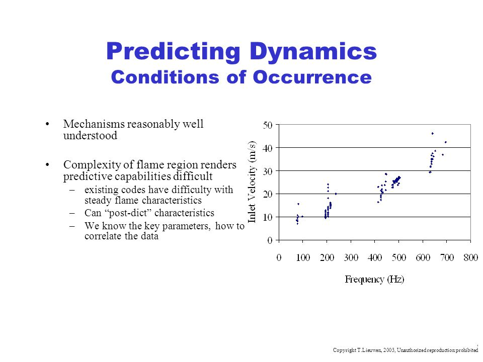 Predicting Dynamics Conditions of Occurrence
