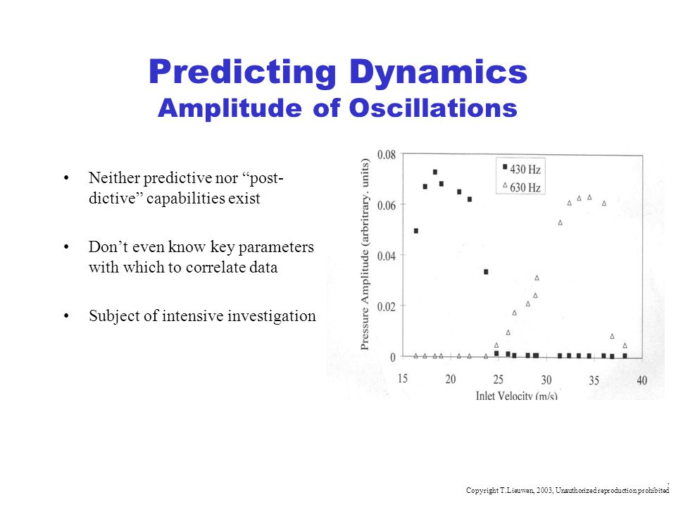 Predicting Dynamics Amplitude of Oscillations