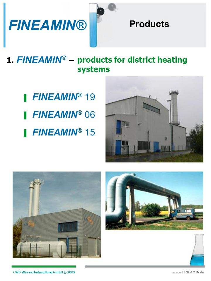 FINEAMIN® Products FINEAMIN® 19 FINEAMIN® 06 FINEAMIN® 15