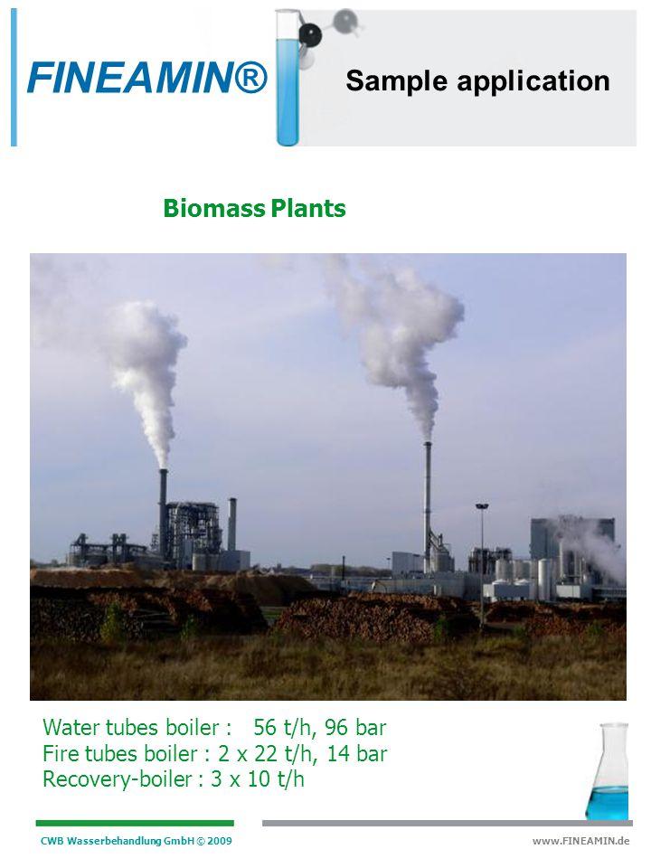 FINEAMIN® Sample application Biomass Plants