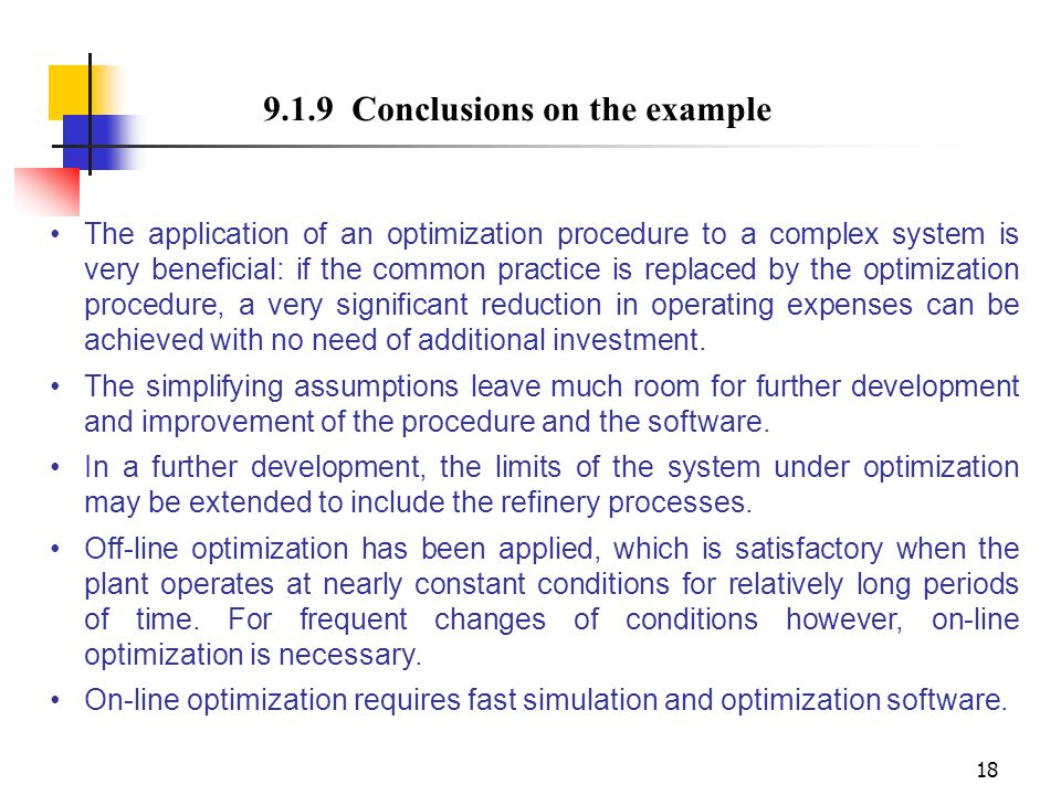 9.1.9 Conclusions on the example