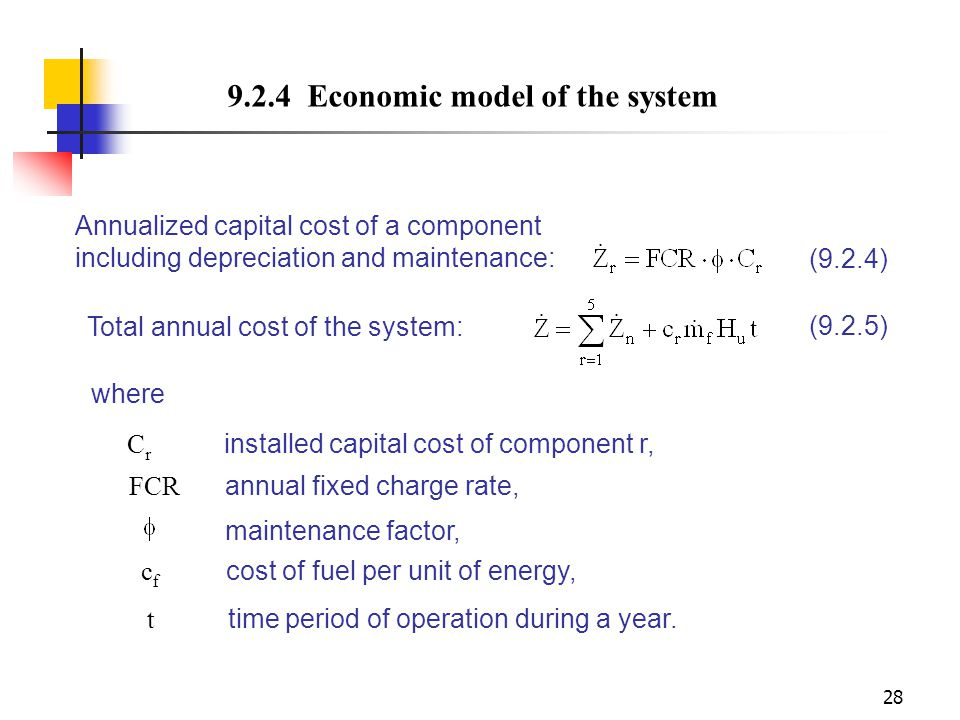 9.2.4 Economic model of the system