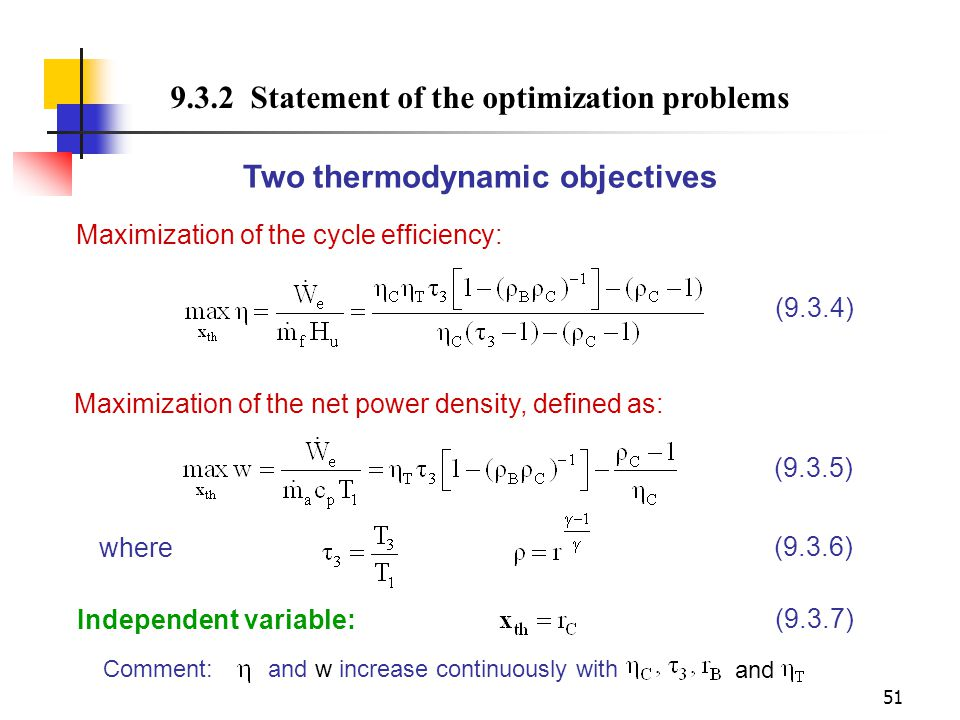 Two thermodynamic objectives