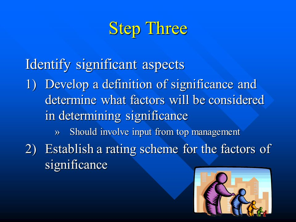 Step Three Identify significant aspects