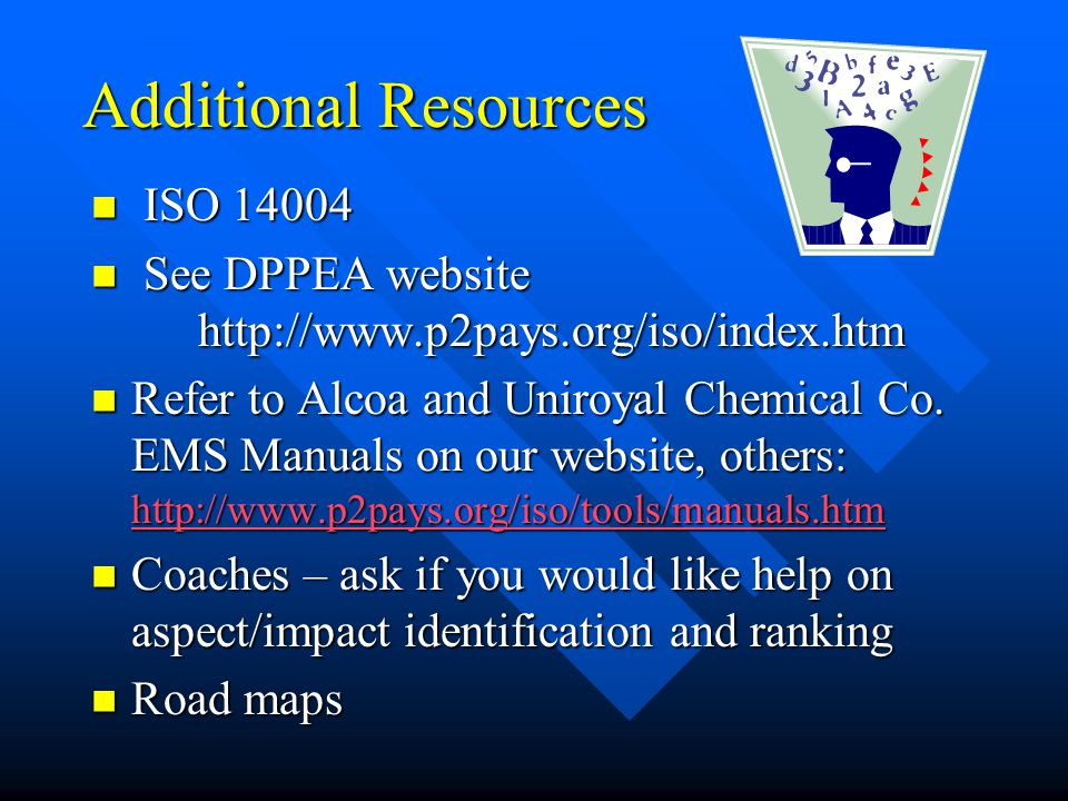 Additional Resources ISO 14004