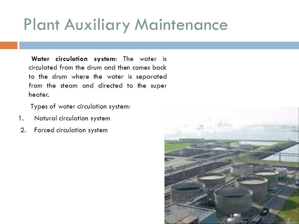 Plant Auxiliary Maintenance