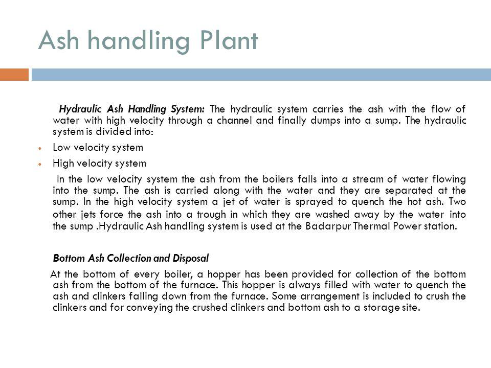 Ash handling Plant