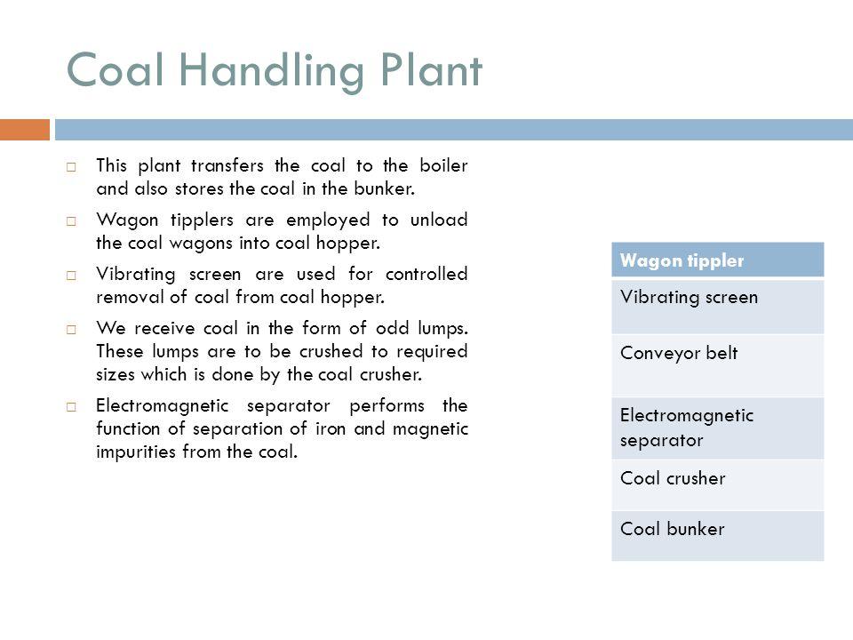Coal Handling Plant Wagon tippler Vibrating screen