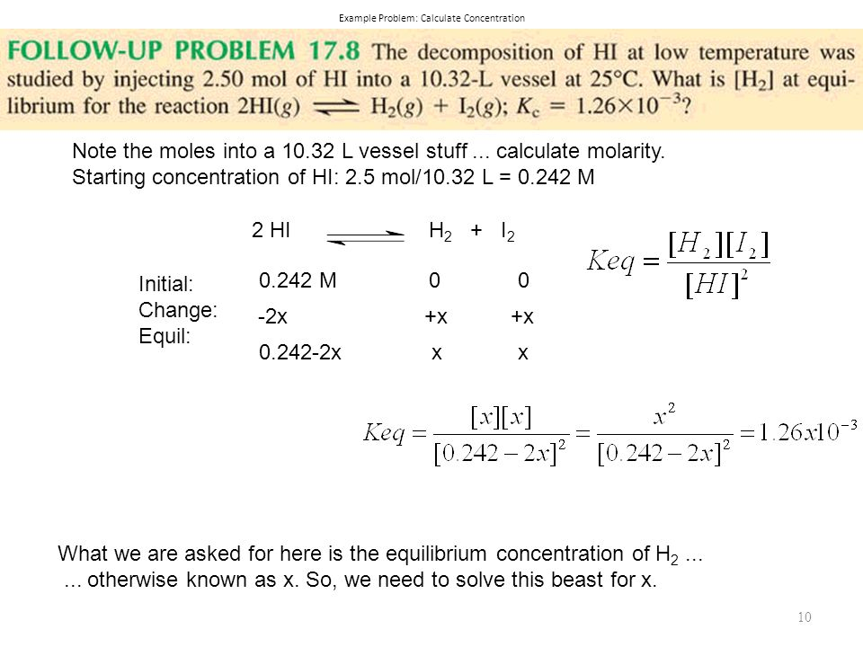 Example Problem: Calculate Concentration