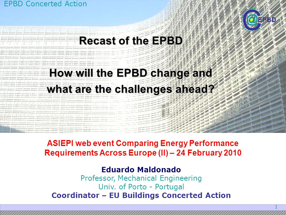 How will the EPBD change and what are the challenges ahead