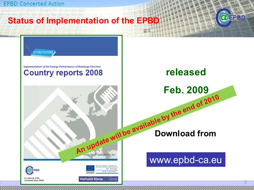 Status of Implementation of the EPBD