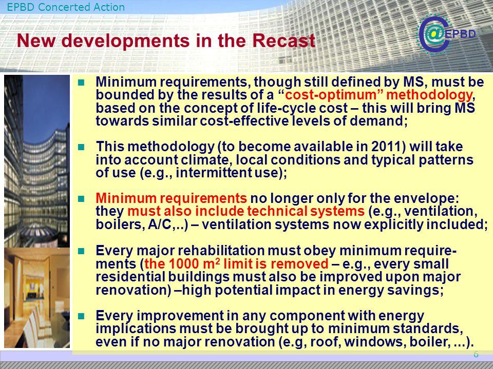 New developments in the Recast