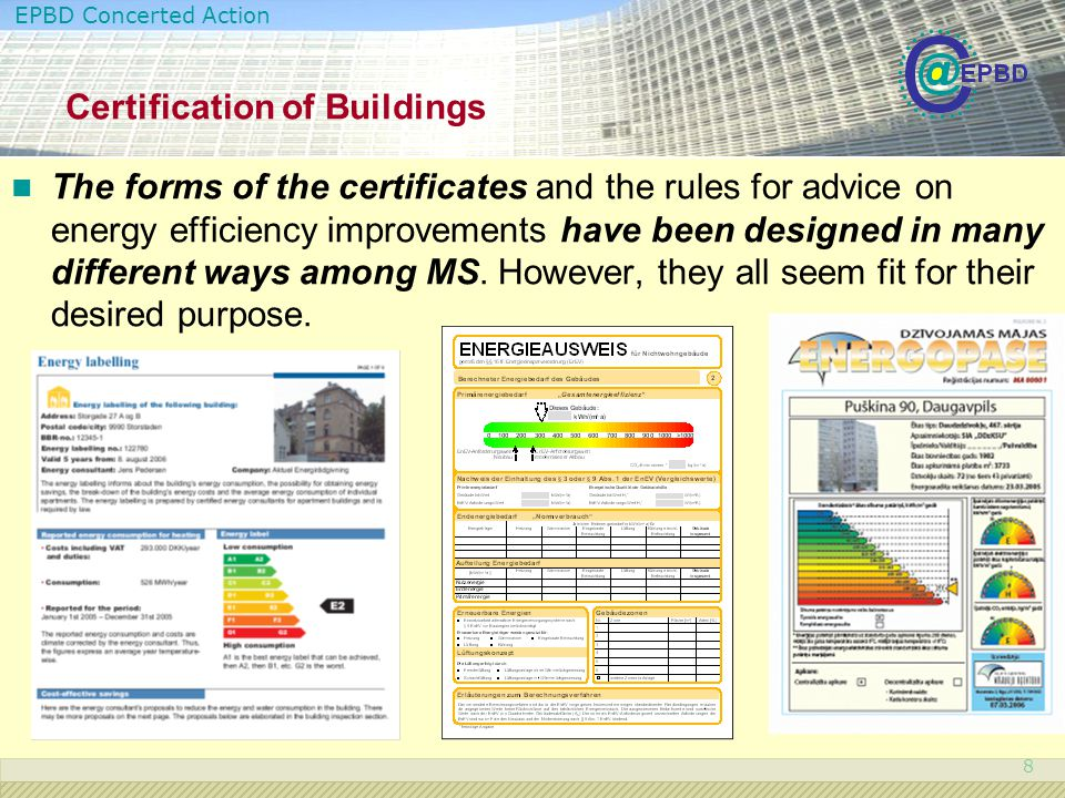 Certification of Buildings