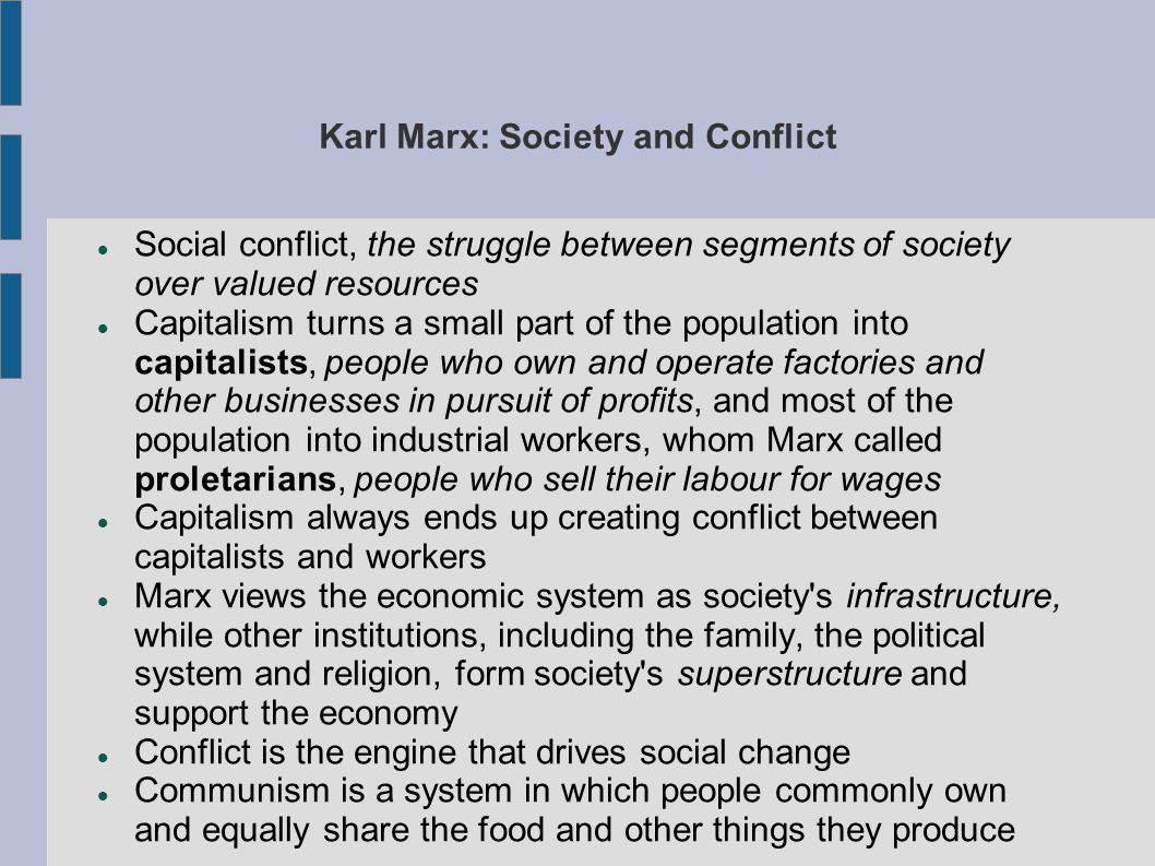 Karl Marx: Society and Conflict