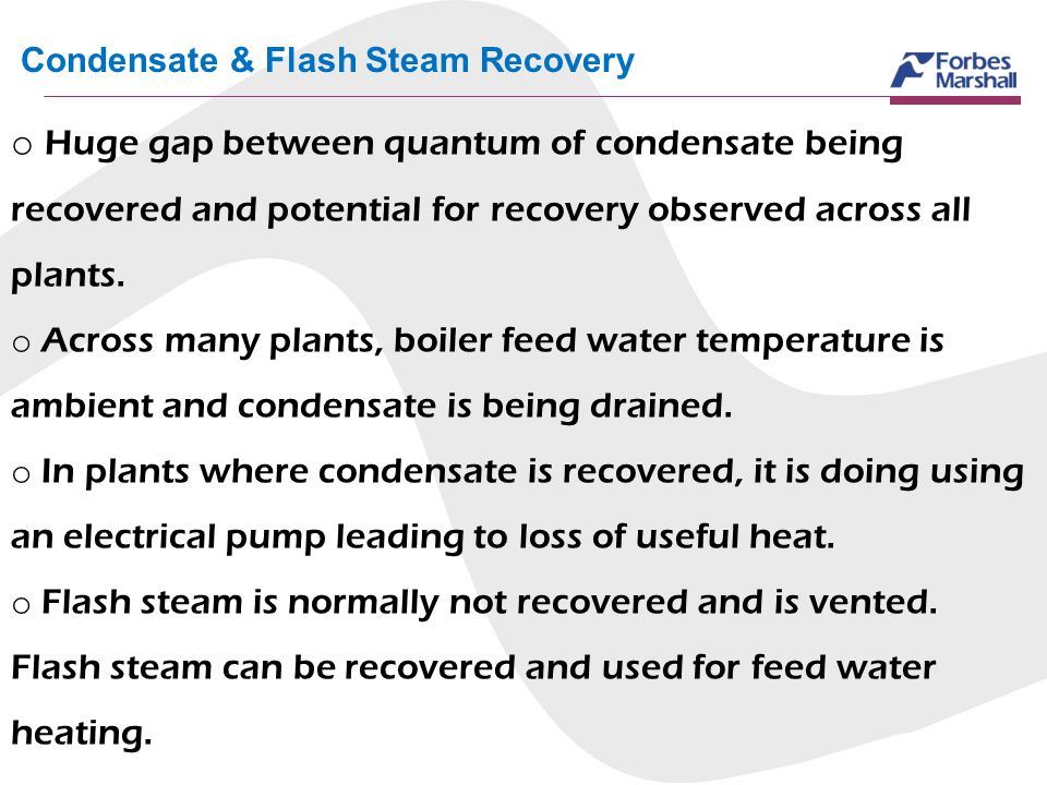 Condensate & Flash Steam Recovery