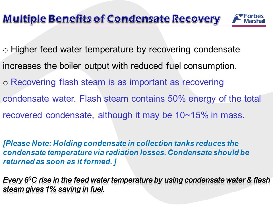 Multiple Benefits of Condensate Recovery