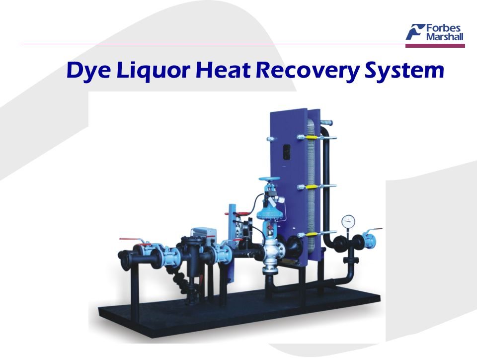 Dye Liquor Heat Recovery System