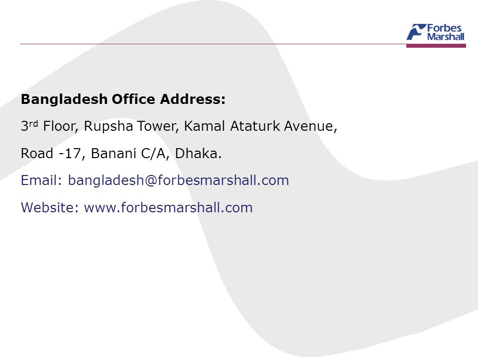 Bangladesh Office Address: